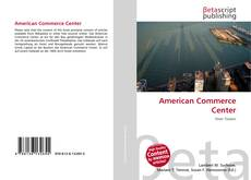 Capa do livro de American Commerce Center