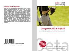 Capa do livro de Oregon Ducks Baseball
