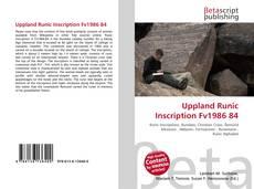 Capa do livro de Uppland Runic Inscription Fv1986 84