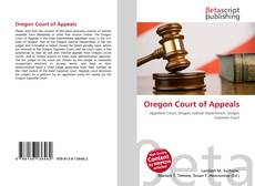 Bookcover of Oregon Court of Appeals