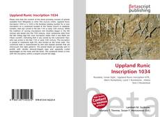 Uppland Runic Inscription 1034的封面