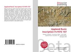 Uppland Runic Inscription Fv1976 107的封面