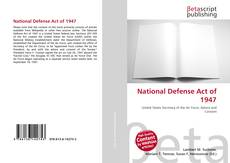 National Defense Act of 1947的封面