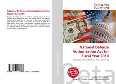 Bookcover of National Defense Authorization Act for Fiscal Year 2010