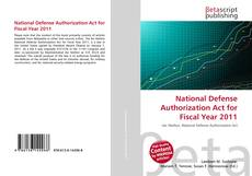 Bookcover of National Defense Authorization Act for Fiscal Year 2011