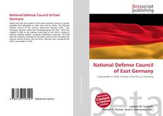 Bookcover of National Defense Council of East Germany