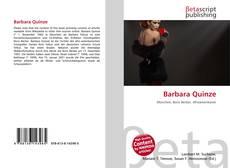 Bookcover of Barbara Quinze