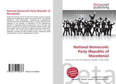 Copertina di National Democratic Party (Republic of Macedonia)