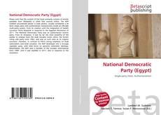 Buchcover von National Democratic Party (Egypt)
