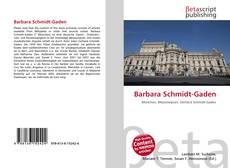 Portada del libro de Barbara Schmidt-Gaden