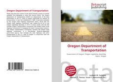 Oregon Department of Transportation kitap kapağı