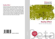 Capa do livro de Reality Effect