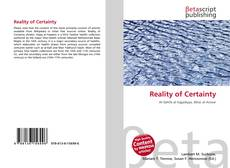 Bookcover of Reality of Certainty