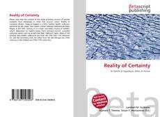 Capa do livro de Reality of Certainty