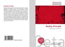Capa do livro de Reality Principle