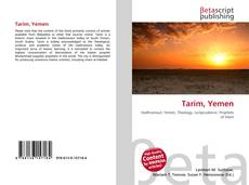 Bookcover of Tarim, Yemen