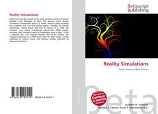 Bookcover of Reality Simulations