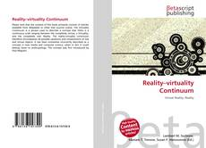 Bookcover of Reality–virtuality Continuum