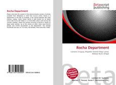 Portada del libro de Rocha Department