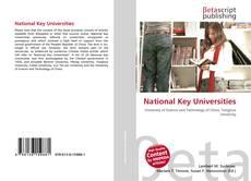 National Key Universities kitap kapağı