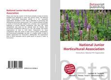 Portada del libro de National Junior Horticultural Association