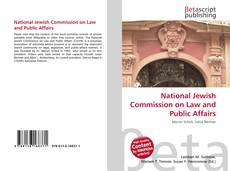 Buchcover von National Jewish Commission on Law and Public Affairs