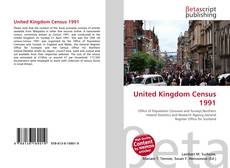 United Kingdom Census 1991 kitap kapağı