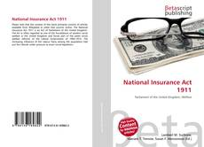 Bookcover of National Insurance Act 1911