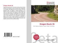 Bookcover of Oregon Route 36