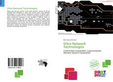 Bookcover of Ultra Network Technologies