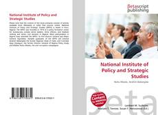 Buchcover von National Institute of Policy and Strategic Studies
