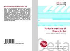 Portada del libro de National Institute of Dramatic Art