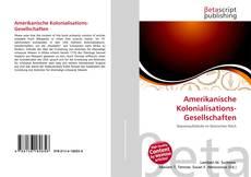 Bookcover of Amerikanische Kolonialisations-Gesellschaften