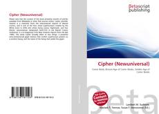 Bookcover of Cipher (Newuniversal)
