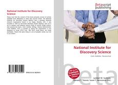 Buchcover von National Institute for Discovery Science