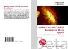 Обложка National Instant Criminal Background Check System