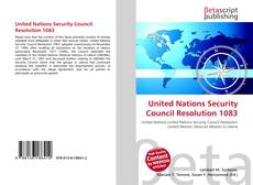 Bookcover of United Nations Security Council Resolution 1083