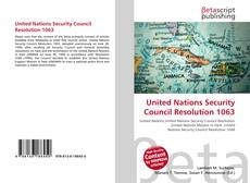 Capa do livro de United Nations Security Council Resolution 1063