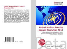 Capa do livro de United Nations Security Council Resolution 1061