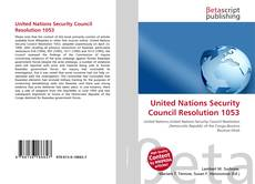 Bookcover of United Nations Security Council Resolution 1053
