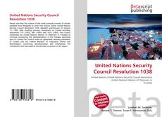 Bookcover of United Nations Security Council Resolution 1038