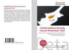 Bookcover of United Nations Security Council Resolution 1032