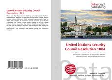Capa do livro de United Nations Security Council Resolution 1004