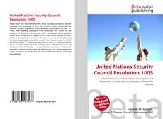 Buchcover von United Nations Security Council Resolution 1005