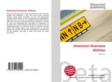 Bookcover of American Overseas Airlines