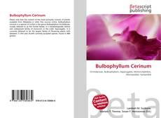 Couverture de Bulbophyllum Cerinum