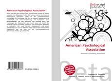 Обложка American Psychological Association