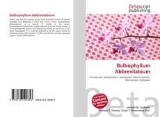 Bookcover of Bulbophyllum Abbrevilabium