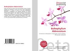 Bookcover of Bulbophyllum Abbreviatum