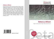Bookcover of Rebecca Allison